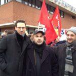 Neuköllner SPD demonstriert gegen NPD im Bezirk 9