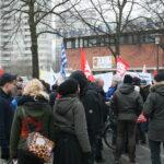 Neuköllner SPD demonstriert gegen NPD im Bezirk 10