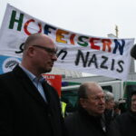 Neuköllner SPD demonstriert gegen NPD im Bezirk 17