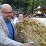 SPD Neukölln beim Rixdorfer Strohballenrollen 1