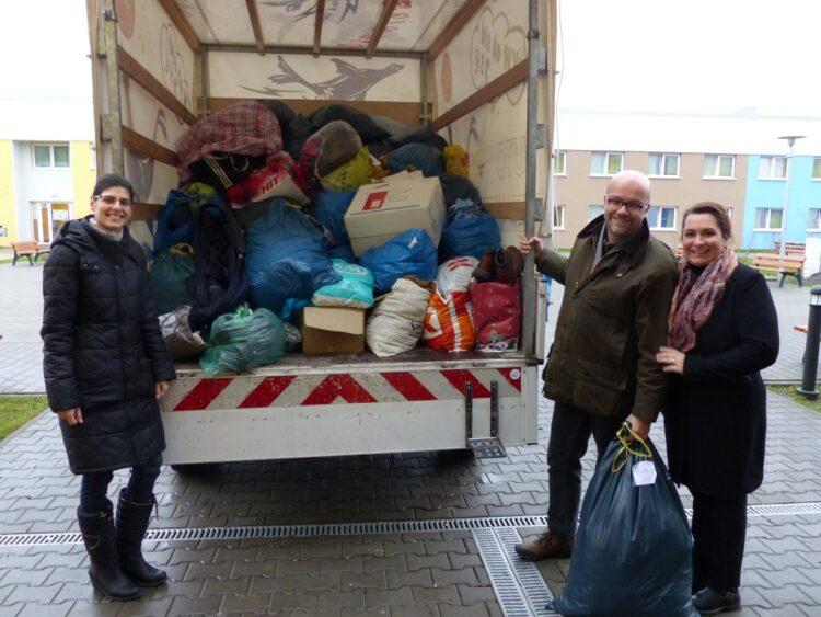 Spendenübergabe an die Flüchtlingsunterkunft 1