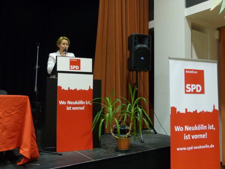 Neuköllner SPD-Kreisparteitag nominiert Dr. Franziska Giffey als Bezirksbürgermeisterin 8