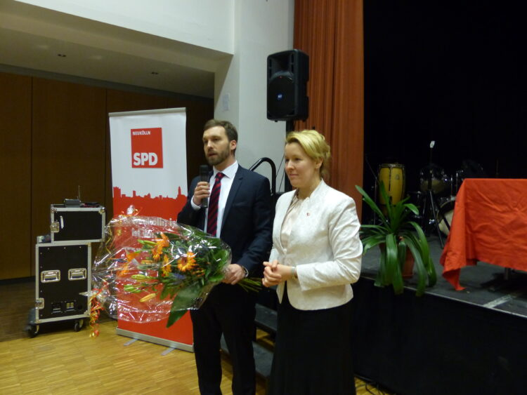Neuköllner SPD-Kreisparteitag nominiert Dr. Franziska Giffey als Bezirksbürgermeisterin 1