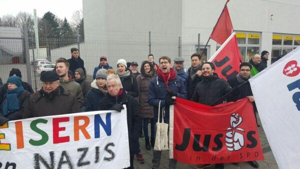 NPD Gegenkundgebung Jusos Neukölln SPD