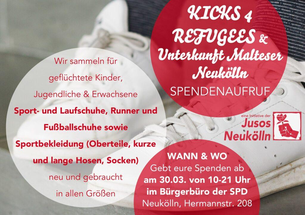 Jusos Neukölln Spendenaufruf Flyer