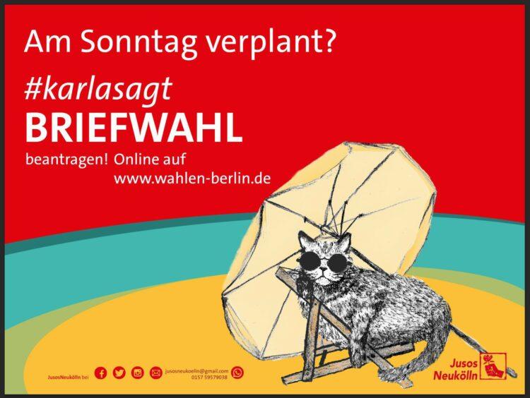 """Karla sagt, worauf es ankommt"" - Wahlkampfkampagne 2016 der Jusos Neukölln 7"