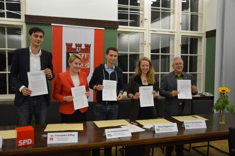 SPD Neukölln und Grüne Neukölln unterzeichnen Zählgemeinschaftsvereinbarung 2
