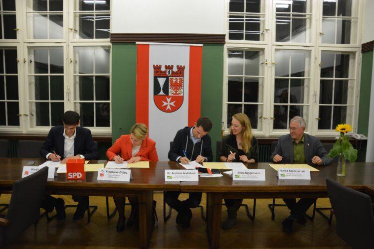 SPD Neukölln und Grüne Neukölln unterzeichnen Zählgemeinschaftsvereinbarung 1