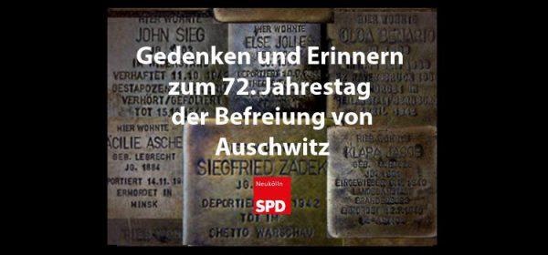 SPD Neukölln ruft zum Gedenken und Erinnern an die Befreiung von Auschwitz auf 1