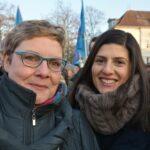 Gedenkfeier zu 72. Jahrestag der Auschwitz-Befreiung und Solidaritätskundgebung gegen Rechtsextremismus 11
