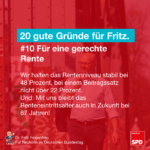 Gründe für Fritz 10