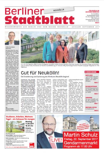 Berliner Stadtblatt #Neukölln - Ausgabe September 1