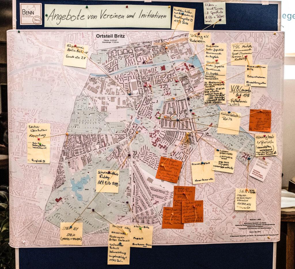 BENN kartiert Britz beim 1. Nachbarschaftsforum 1