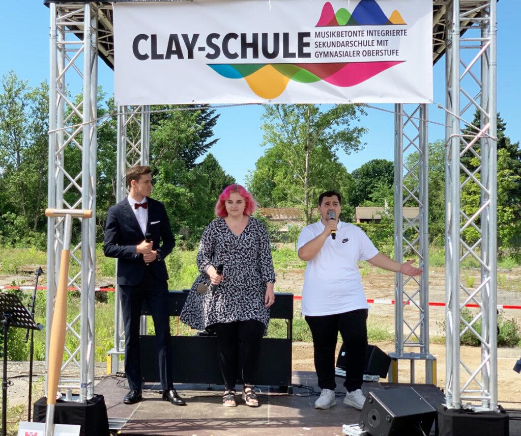 Clay-Oberschule feierte Spatenstich 4