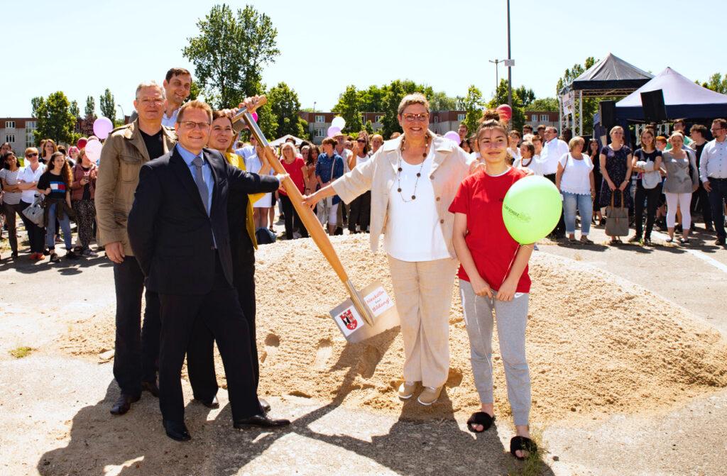 Clay-Oberschule feierte Spatenstich 3