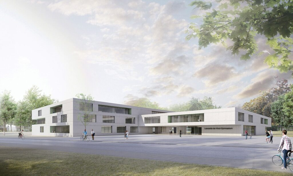 Leonardo-da-Vinci-Gymnasium feiert Richtfest 2