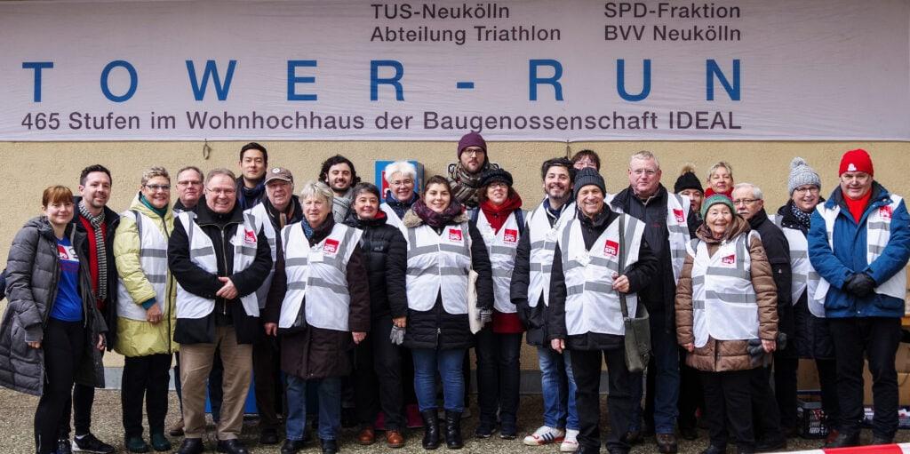 Jubiläum: Der 20. Tower-Run im IDEAL-Hochhaus in der Gropiusstadt 25