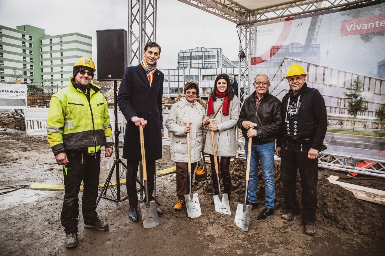 Spatenstich für größtes Bauvorhaben von Vivantes am Klinikum Neukölln 3