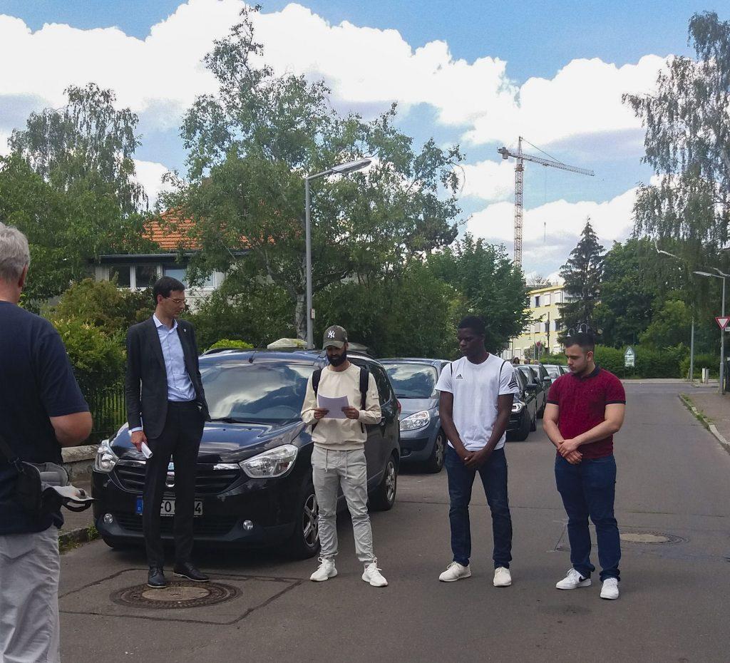 """Erster Stolperstein in Rudow auf Initiative von """"Rudow empört sich"""" verlegt 4"""