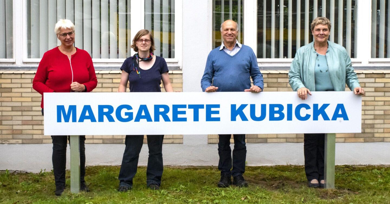 Bibliothek Britz nach Margarethe Kubicka benannt 1