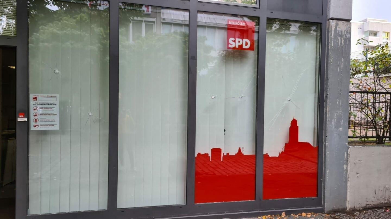 Erneuter Angriff auf das Kreisbüro der SPD Neukölln 1