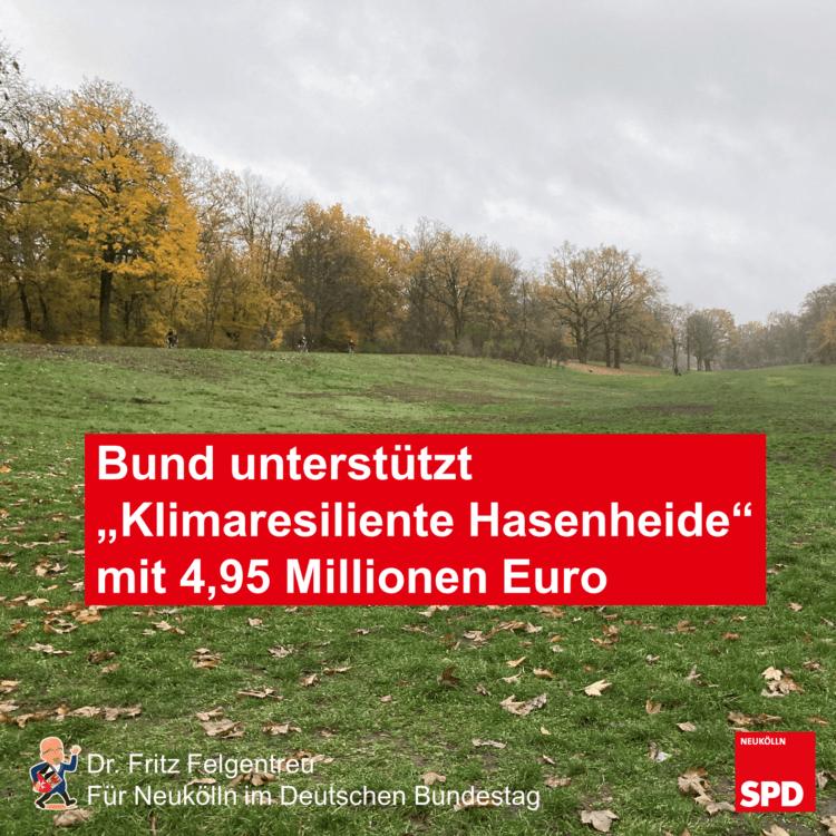 """Bund unterstützt Modellprojekt """"Klimaresiliente Hasenheide"""" mit 4,95 Millionen Euro 5"""