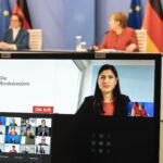 Derya Çağlar übergibt Abschlussbericht der Fachkommission Integrationsfähigkeit an die Bundeskanzlerin 1
