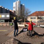 Spatenstich für das Zentrum für Sprache und Bewegung am Campus Efeuweg 1