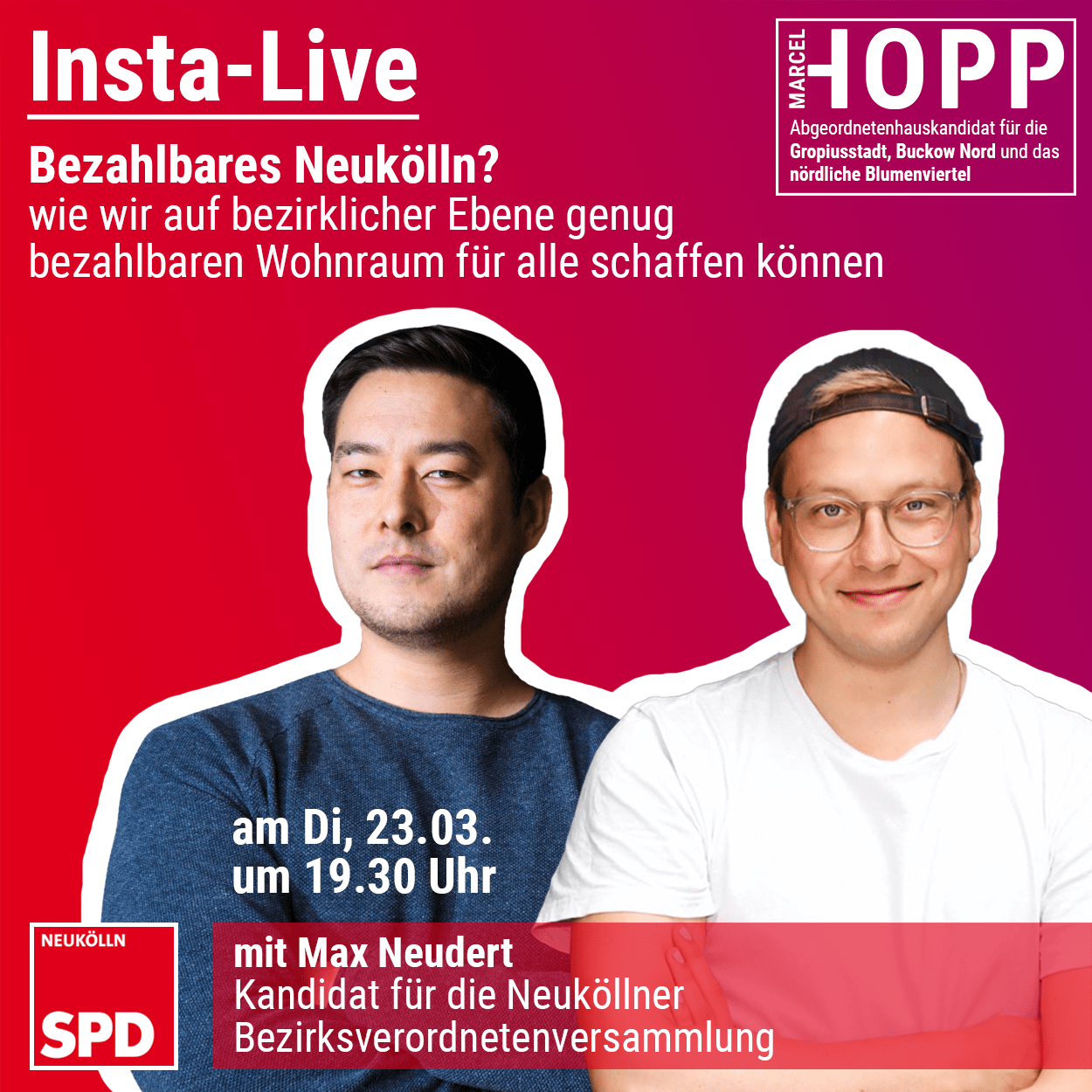 Insta-Live von Marcel Hopp mit Maximilian Neudert 1