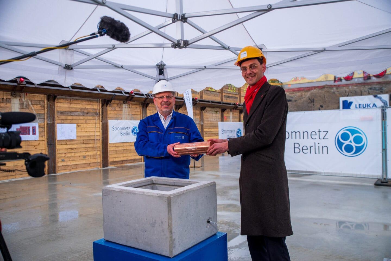 Grundsteinlegung für neues Umspannwerk Rollberg in Neukölln 1